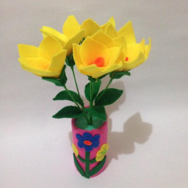 Gambar Vas Bunga Dari Kain Flanel Gambar Bunga Keren