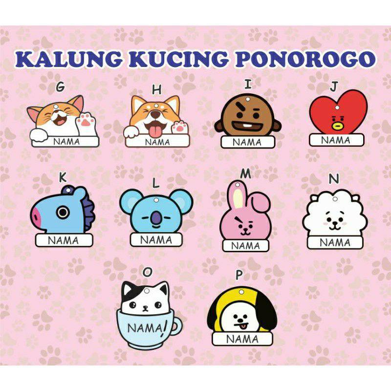 Kalung Kucing Nama Custom Shopee Indonesia