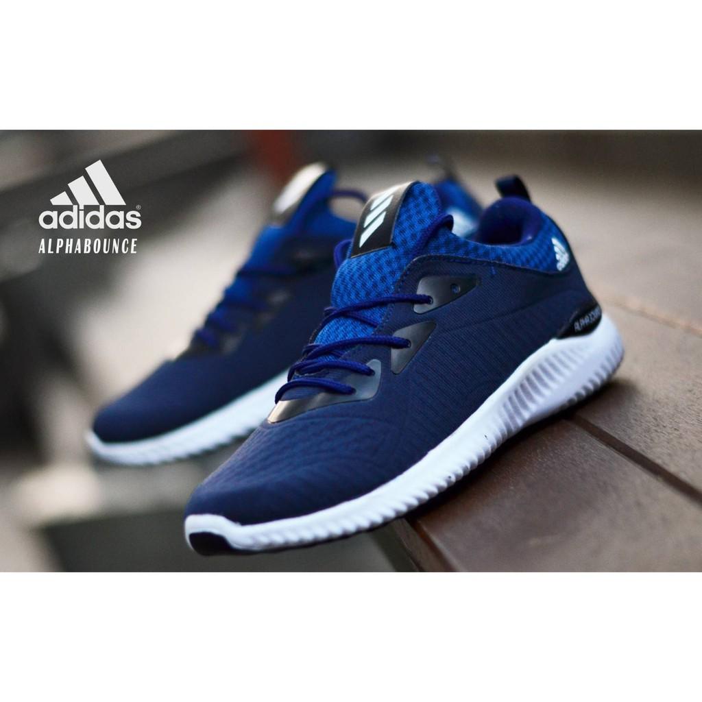 Sepatu Sneakers Adidas Alphabounce Warna Hitam Putih  d5e3167f08