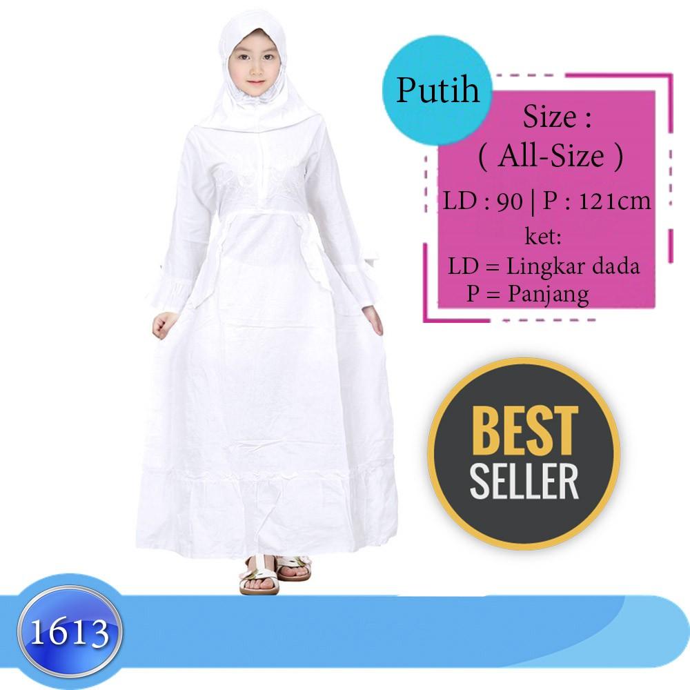 Baju Muslim Gamis Putih Anak Remaja / tanggung All Size