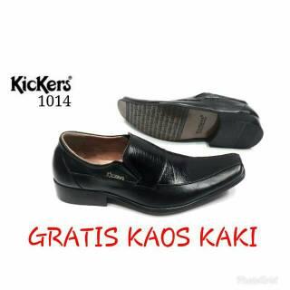 Sepatu Pantofel Pria Kickers Kulit Sapi Asli 100% formal kerja kantor  dab72e6d12