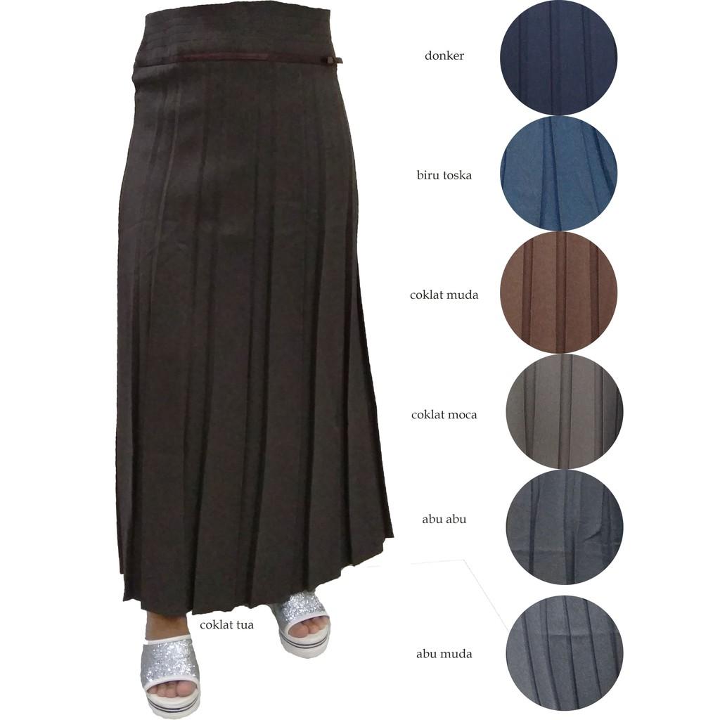 Celana Kulot Polos Pendek Standar Coklat Muda7 Lihat Daftar Harga Makarimshirt Susu Rok Kerja Panjang Kantor Wanita