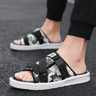 Combination Vietnamese Men S Sandals Summer Fashion Outer Wear Slippers Beach Sandals And Slippers Personality Flip Flops Outdoor Shopee Indonesia