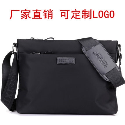 WUI Leather Handbag Business Casual Youth Mens Cross-Body Messenger Bag 2019 New Leather Business Bag A4 File Package Color : Black, Size : L