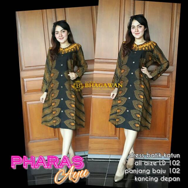 Dress Batik Kerja Dress Batik Kerja Wanita Dress Batik Kerja Modern Dress Batik Kerah Dress