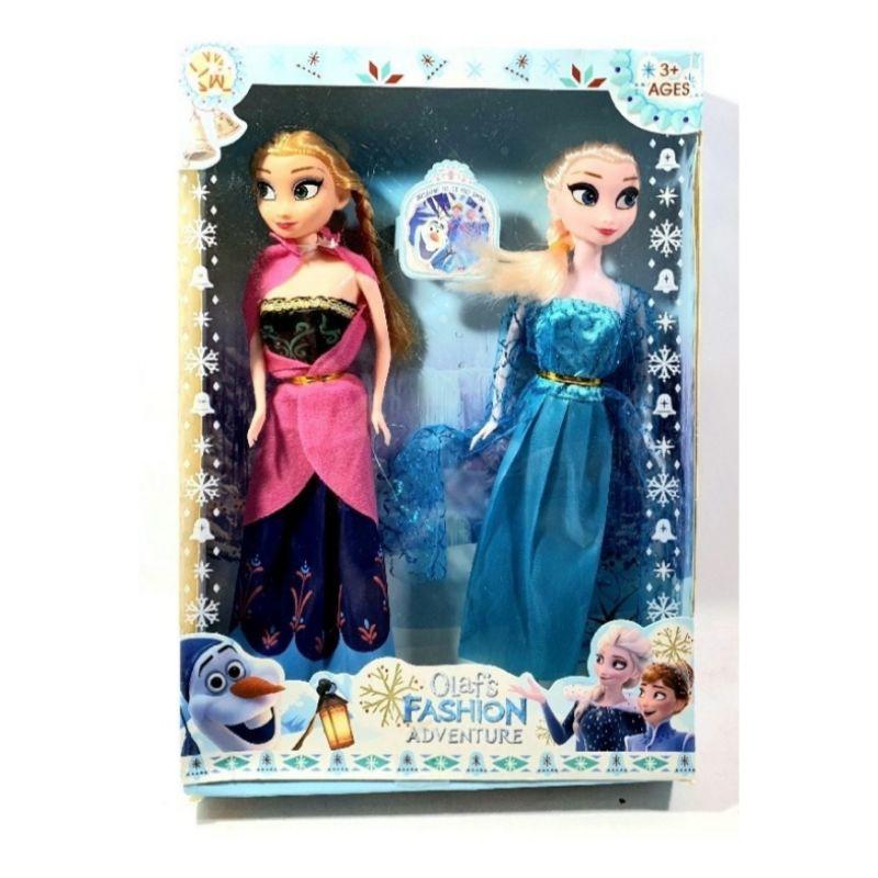 Mainan Barbie Frozen Anna Dan Elsa 2 Pcs Shopee Indonesia