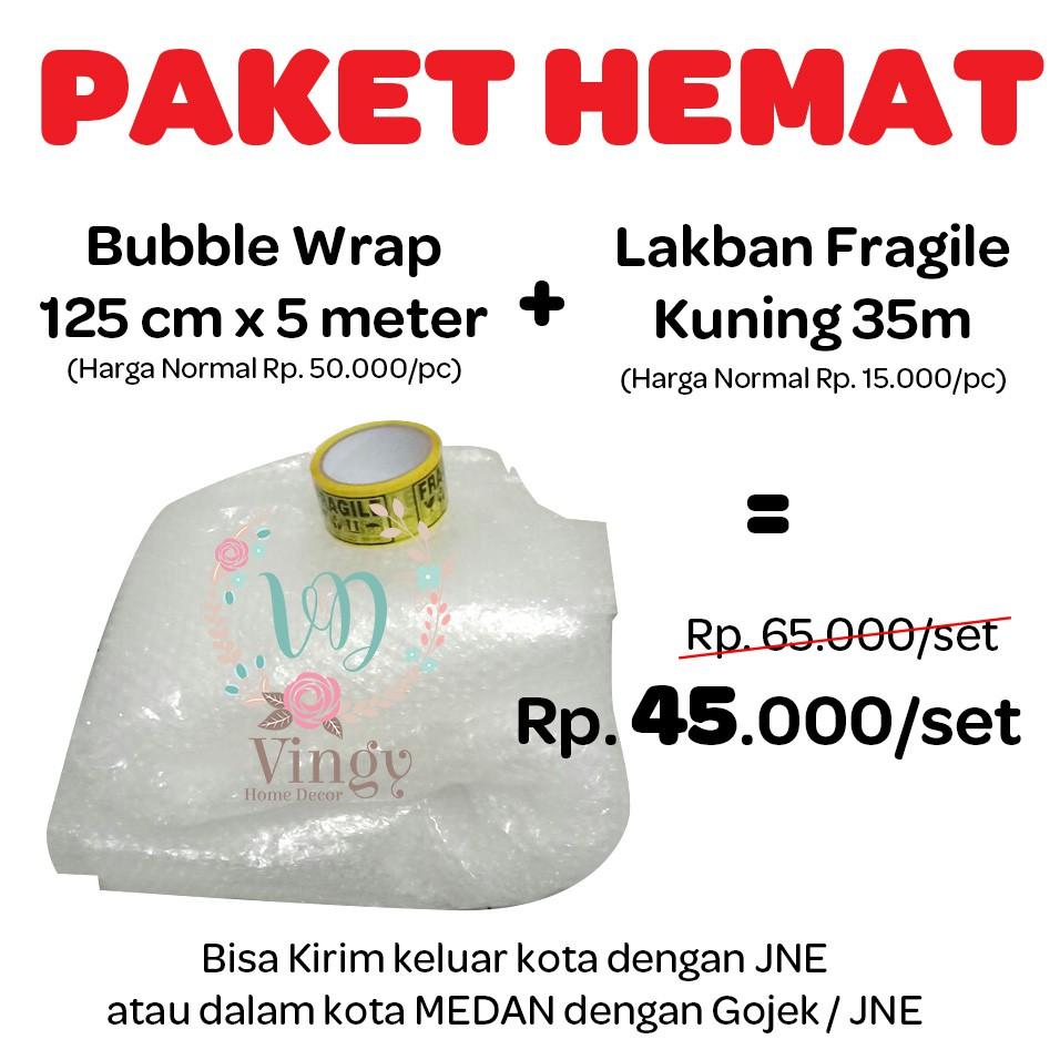 [MEDAN] BUBBLE WRAP METERAN UKURAN 125CM X 100CM - PLASTIK PEMBUNGKUS FRAGILE | Shopee Indonesia