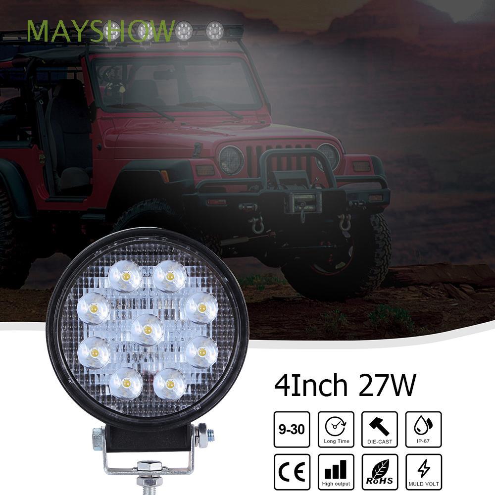 Lampu Kerja Bar LED Terang 9-30v Bentuk Bulat