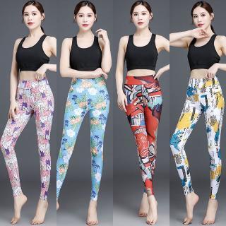 Celana Legging Wanita Dengan Model High Waist Dan Potongan Skinny Bahan Elastis Untuk Yoga Fitness Shopee Indonesia