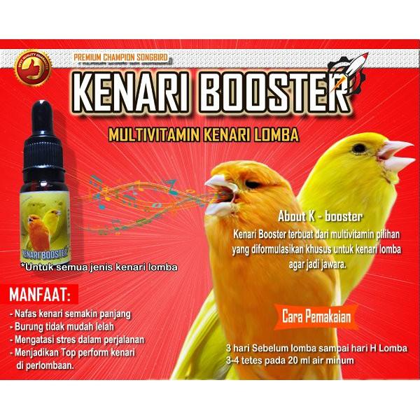 Kenari Booster Multifitamin Kenari Lomba Vitamin Burung Kenari