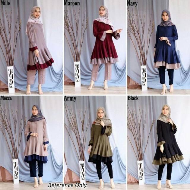 Model Baju Wanita Muslim Tunik Terbaru 2020 Atasan Wanita