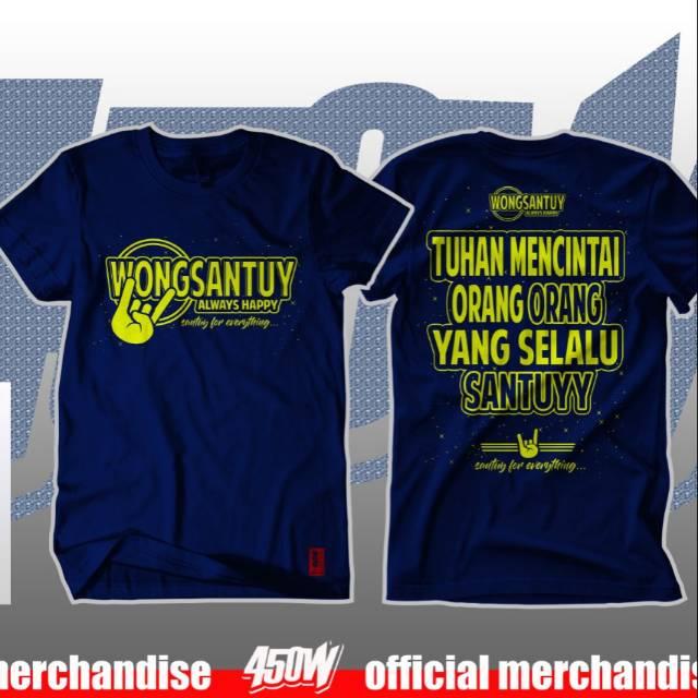 Kaos Kata Kata Wong Santuy Shopee Indonesia