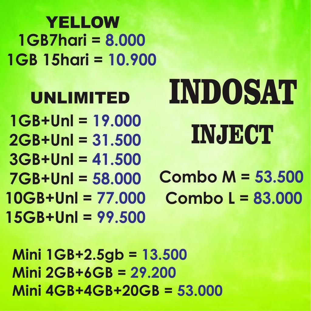 Paket Data Internet Indosat Unlimited Kuota Mini Dan Im3 Freedom Combo Mentari