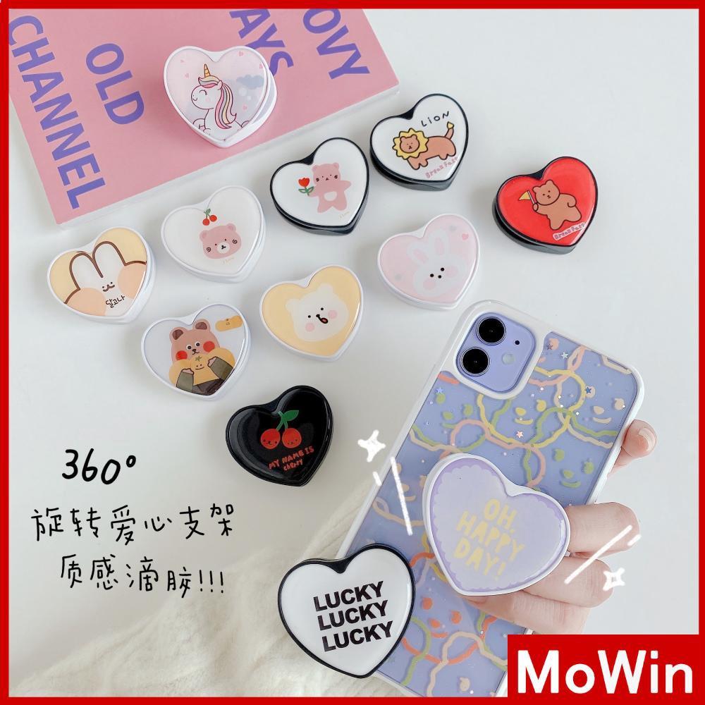 Popsocket Kartun Lucu Cinta Bentuk Hati Epoxy Lipat Dudukan Ponsel Cincin Pemegang Lucu Korea Beruang Cherry 7plus Iphone 8 Max Xr Pro 8plus XS 11 MAX