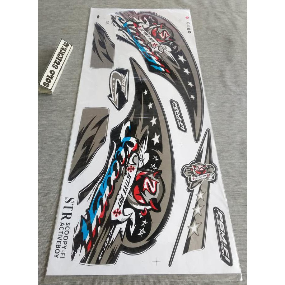 Murah meriah striping sticker variasi motor scoopy f1 club 12 series 3 shopee indonesia