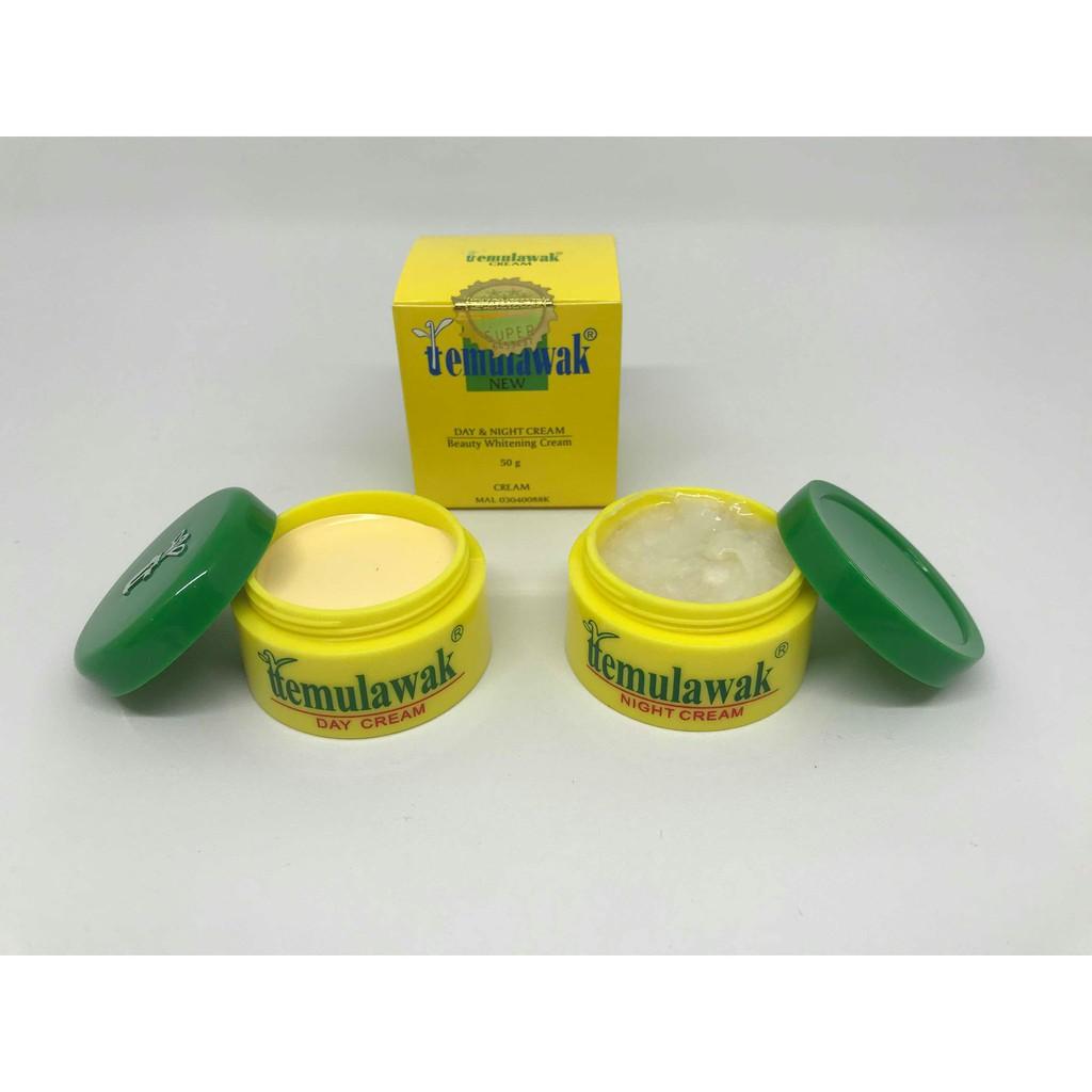 Cream Temulawak Malam Holo Super Original Krim Saja Shopee Day Night Pot Kuning Emas Indonesia