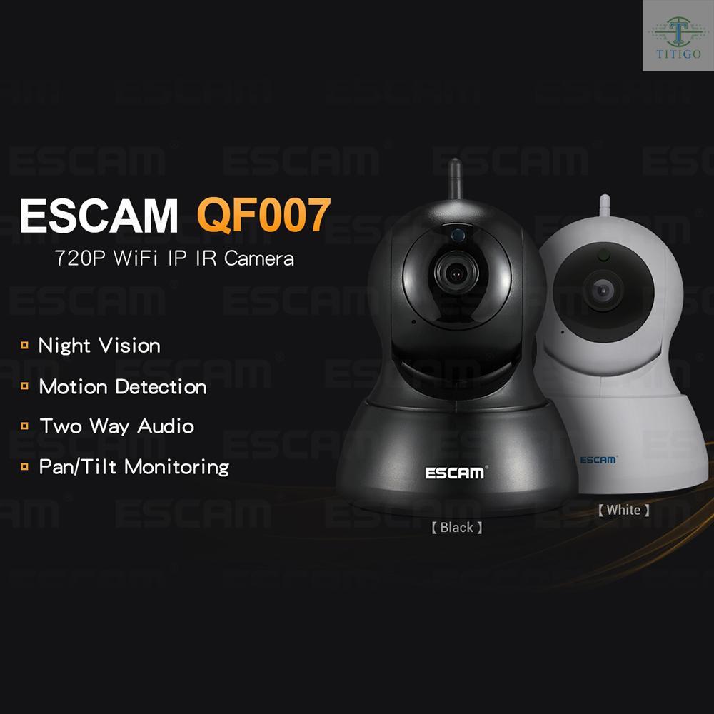 ESCAM HD 720P Wifi IP Camera Night Vision 2 Way Audio Home Security Video Camera