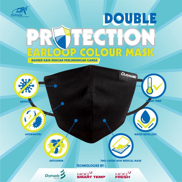 Masker Kain Anti Virus DK DOUBLE PROTECTION EARLOOP MASK COLOUR #5