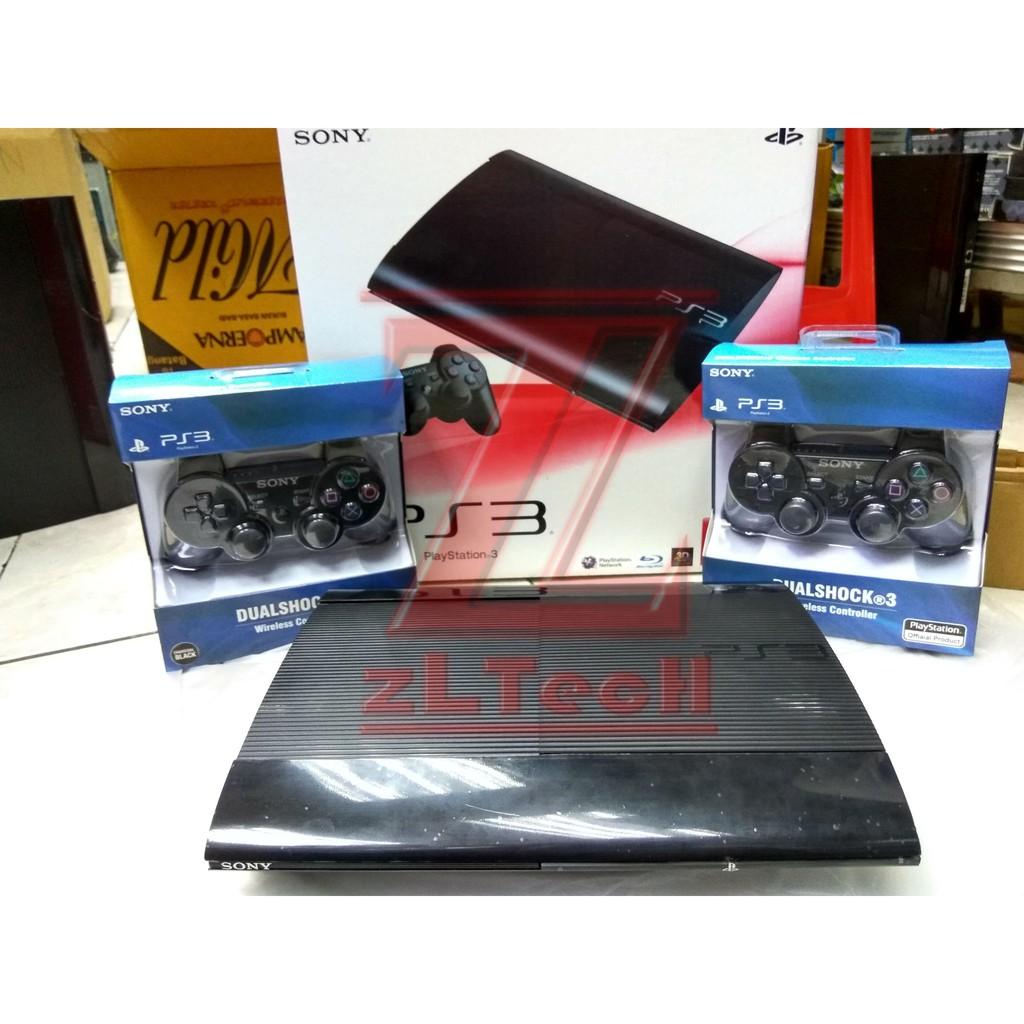 Sony Playstation3 Ps3 Slim 500gb Full Games Injek 2 Stick Wairelles Playstation 3 Super Hitam Superslim Wireless Game Cfw Shopee Indonesia