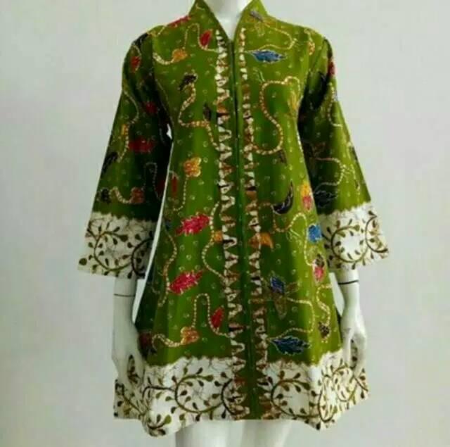 Madura Jaya Ulir Tunic Batik Kerja Kantor Wanita Seragam Oribylala
