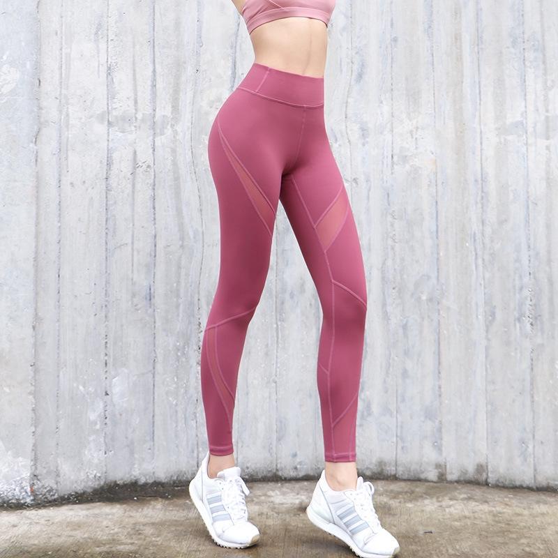Celana Legging Panjang Wanita Model Ketat Elastis Sambungan Mesh Untuk Fitness Yoga Shopee Indonesia