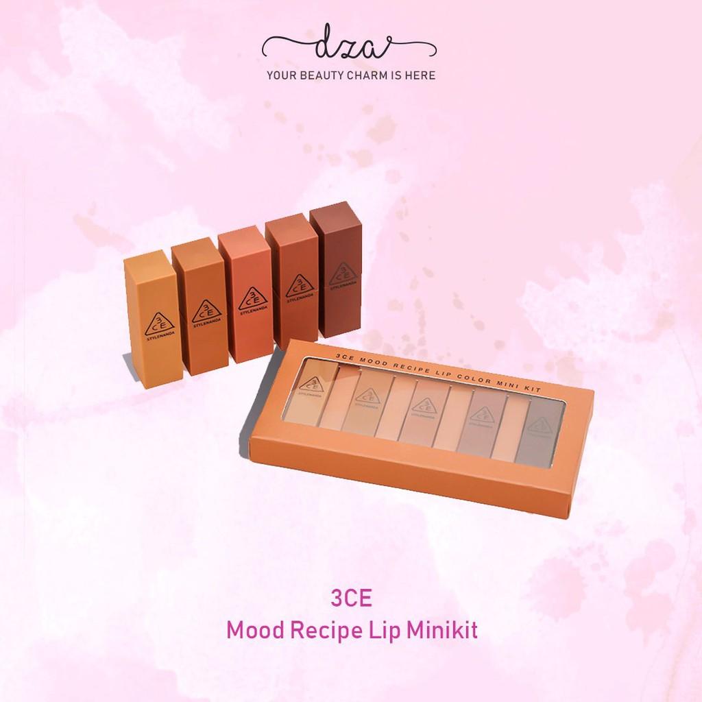 3ce Stylenanda Mood Recipe Lip Color Mini Kit Nude Ver Shopee Lipstick Matte Box Coklat Lipstik Gift Set Kosmetik Bibir Indonesia