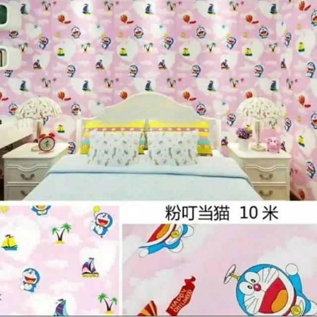 Promo Wallpaper Dinding Murah Kamar Anak Doraemon Sing Lucu Indah Best Seller Terlaris Shopee Indonesia