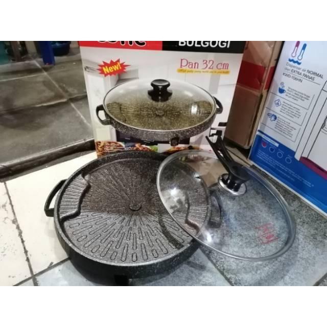 BULGOGI / ALAT PANGGANG HAPPY CALL 32 CM / GRILL PAN / BBQ
