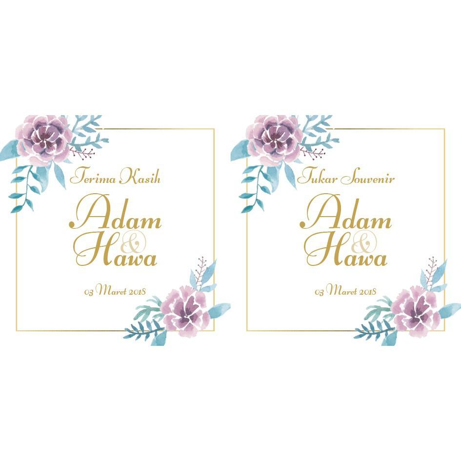 Desain Kartu Ucapan Terima Kasih Pernikahan - kartu ucapan ...