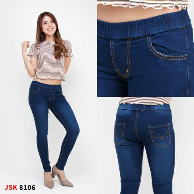 Bisa Cod Size 28 42 Celana Legging Jeans Panjang Skinny Wanita Trendy Modis Big Size Produk Jsk Shopee Indonesia