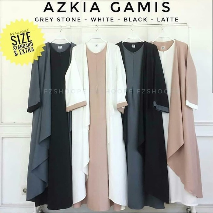 Unik azkia maxi dress muslim / gamis murah /grosir baju hijab bandung terbaik