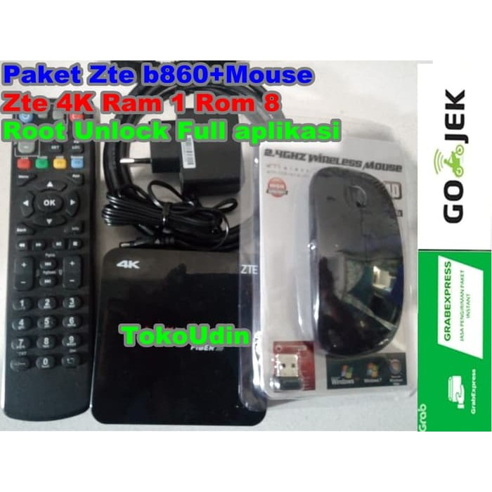 STB Android ZTE 4K ZXV10 B860H unlock root mouse full aplikasi