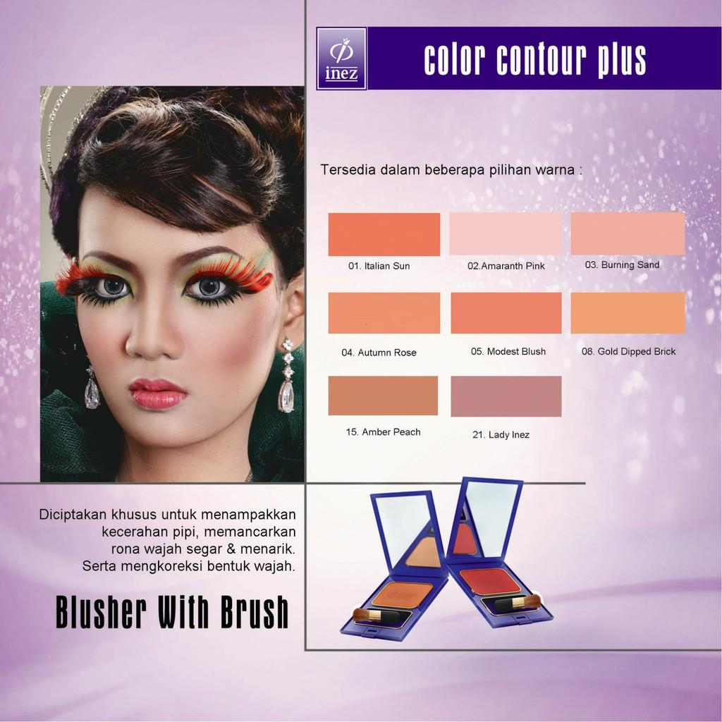 Inez Blusher Shopee Indonesia Nez Color Contour Plus Amaranth Pink