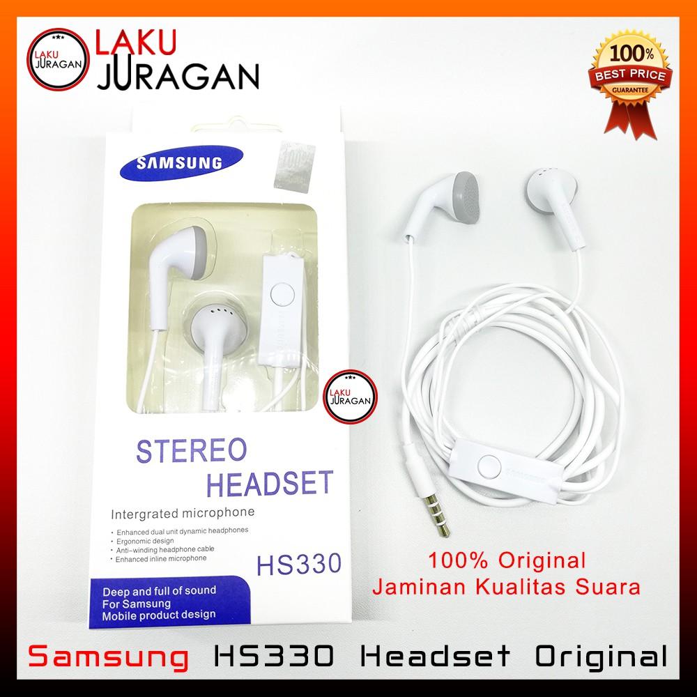 Stereo Headset Handsfree Earphone Samsung Galaxy J1, J2, J3 , J5, J7, Ace Original HS330   S1, S2, S   Shopee Indonesia
