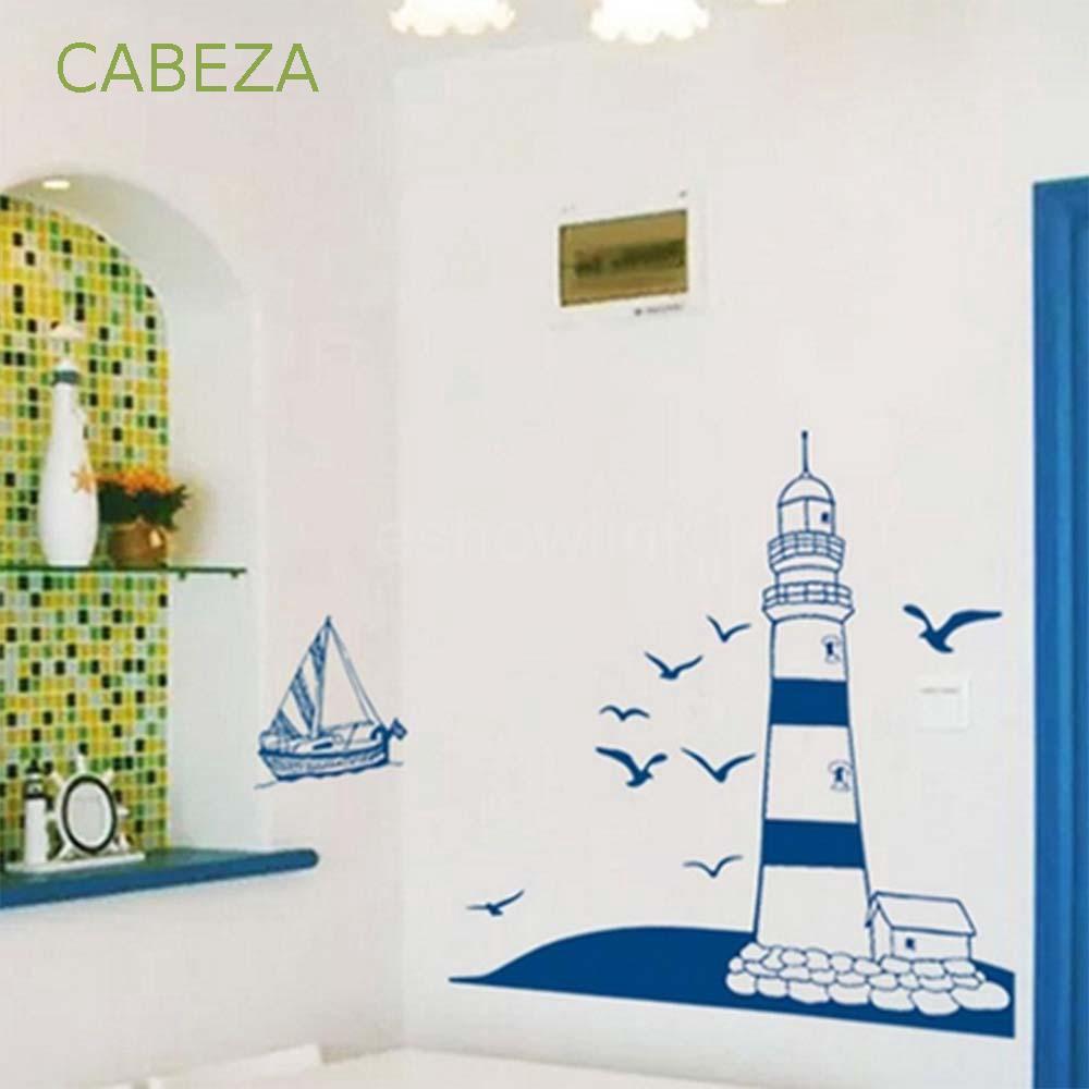 Stiker Dinding Dengan Bahan Mudah Dilepas Dan Gambar Burung Camar Untuk Dekorasi Rumah