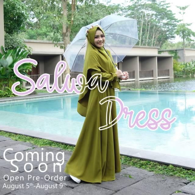 Ready Stok Salwa Dress By A D E N Hijab Shopee Indonesia