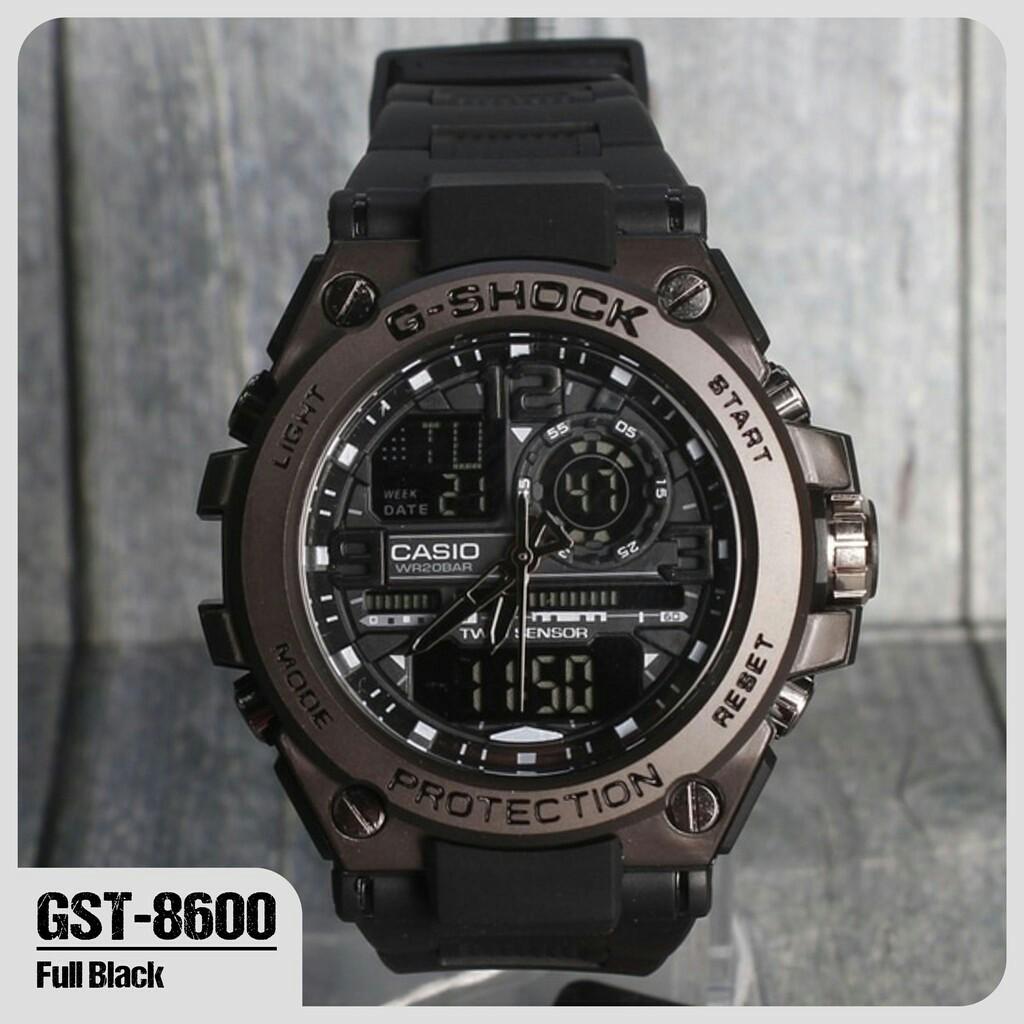 Jam tangan G-Shock Casio G8600 Metal Besi Coklat digital led analog tahan air ciprat   Shopee Indonesia