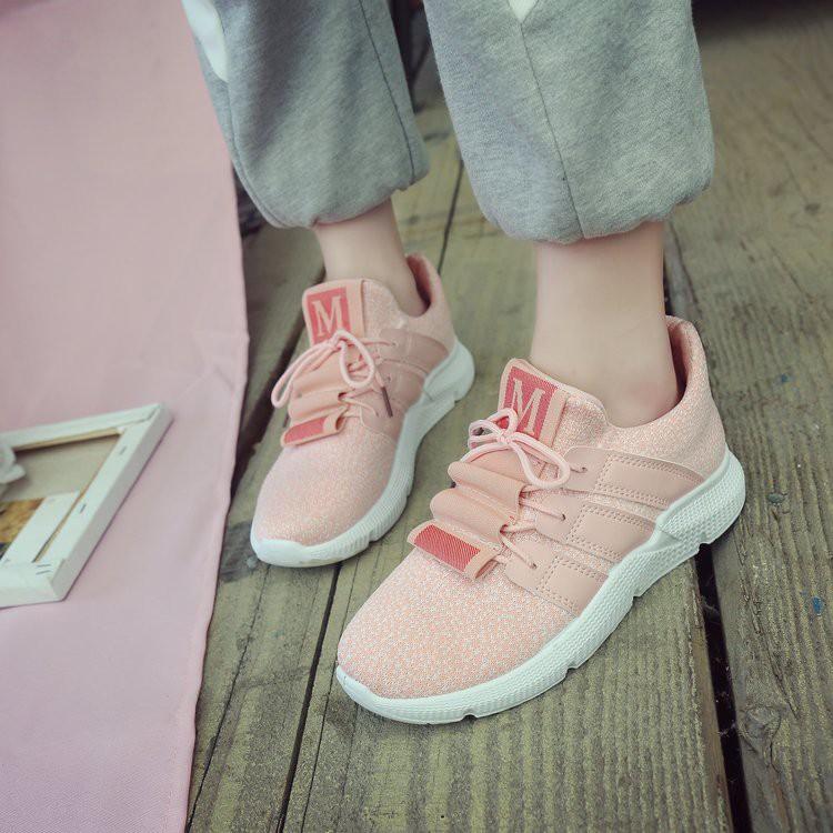 Fashion Wanita: Sepatu Sneakers Bahan Breathable Gaya Korea untuk Olahraga | Shopee Indonesia