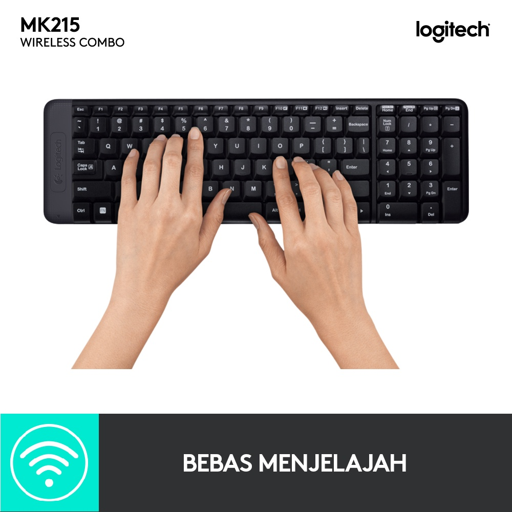 Logitech MK215 Wireless Combo Keyboard Mouse-2