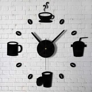 jam dinding besar desain kopi - ruangan kamar kedai kafe