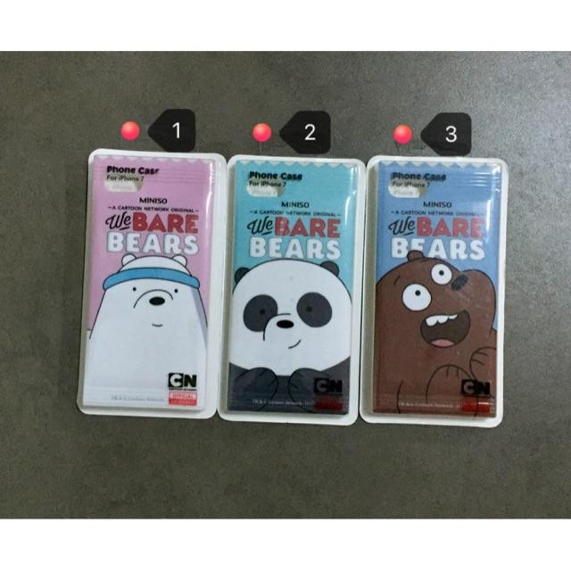 brand new 89243 b1e63 Miniso Bare Bears Case Iphone 7