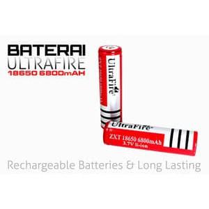 Battery Ultrafire 18650 99000maH 3,7v Rechargeable Lithium Li-Ion | Shopee Indonesia