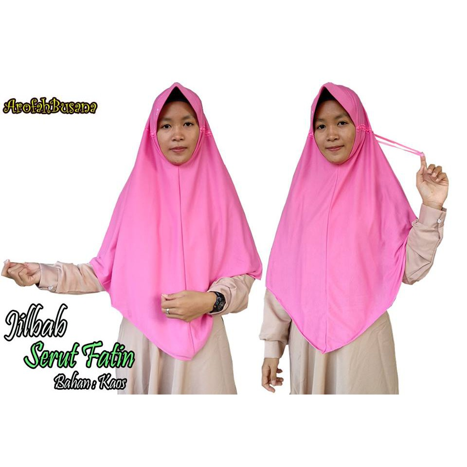 Hijab Serut Fatin Jilbab Belakang Bahan Kaos Syari Jumbo Terlaris Shopee Indonesia