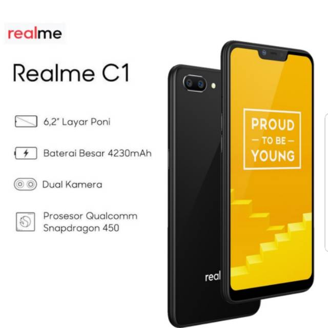 Hp Realme C1 Realme C 1 2 16gb 2 16gb Black Blue Shopee