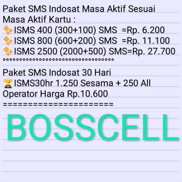 Paket Sms Indosat Pulsa Sms Indosat Shopee Indonesia