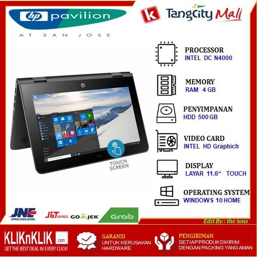 Laptop Flip Hp Pavilion X360 11 Ab128tu Intel N4000 4gb 500gb 11 6 Touch Win10 Shopee Indonesia