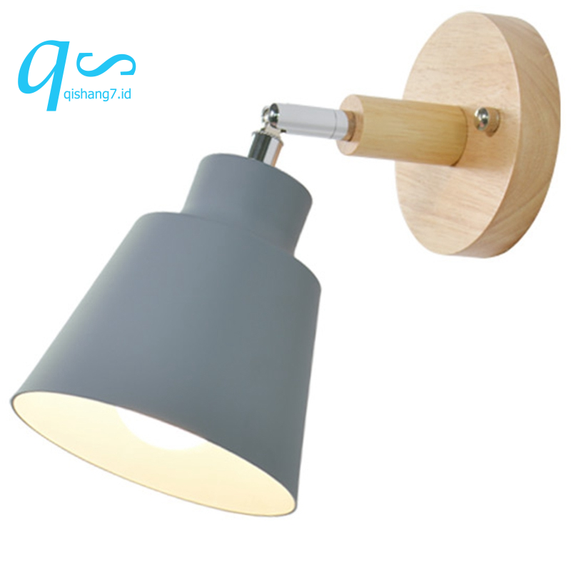 Wooden Wall Lights Bedside Wall Lamp Bedroom Wall Light Sconce For Kitchen Modern Wall Lamp Nordic Sconces Grey Shopee Indonesia