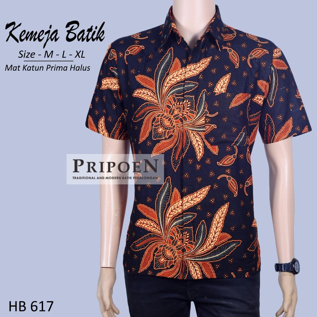 Pripoen Batik KBP283 - KEMEJA BATIK PRIA LENGAN PANJANG BATIK SOGAN COKLAT  ULIR  c1592d0311