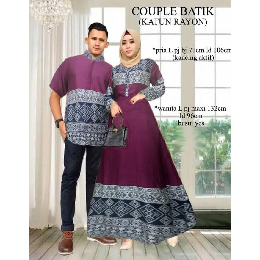 Produk Unggulan Pakaian Couple Batik Premium Bagus  157cae2b2b