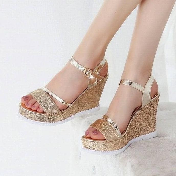 Dapatkan Harga sepatu Wedges Slip On Sepatu Wanita Heels Diskon   Shopee Indonesia